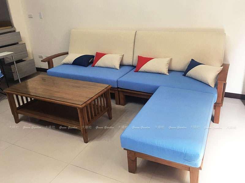 L型沙發組合照