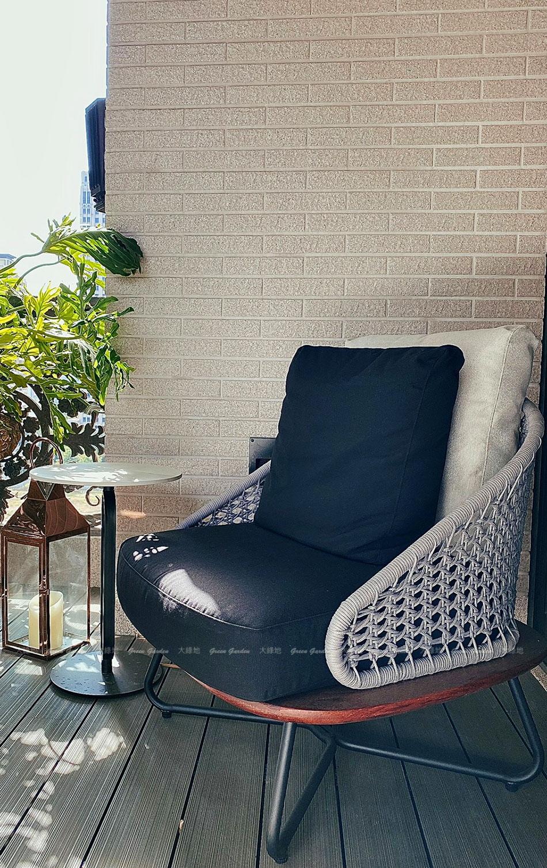 豐禾設計繩編柚木單人椅