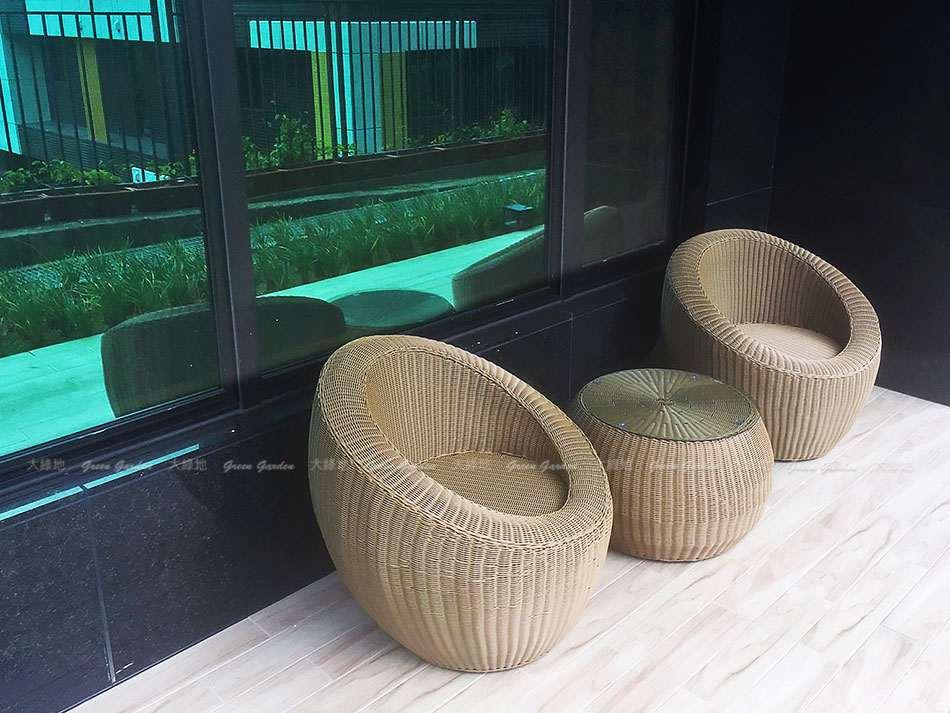 桶狀輕巧藤沙發