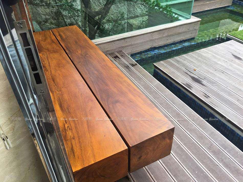 戶外實木長凳