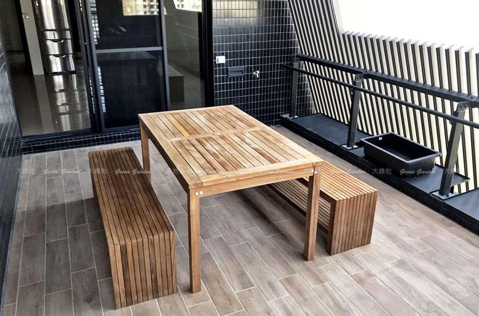 150戶外柚木餐桌