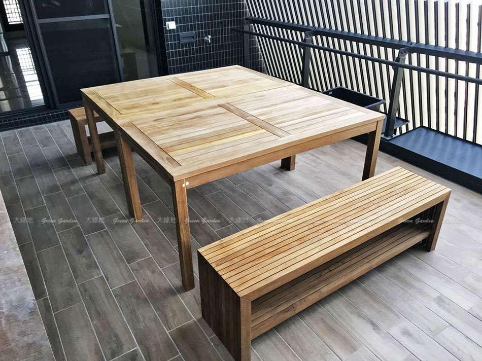 150柚木長桌2