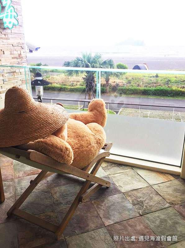 最舒服的柚木躺椅寫照