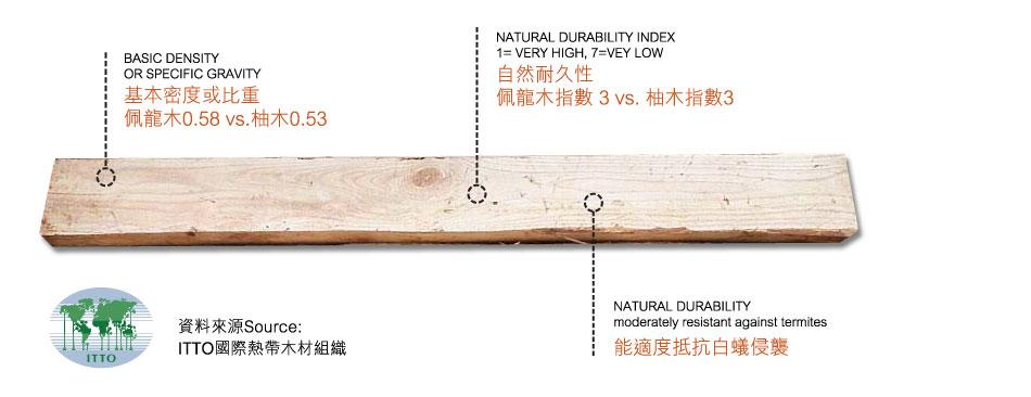 佩龍木木材物性