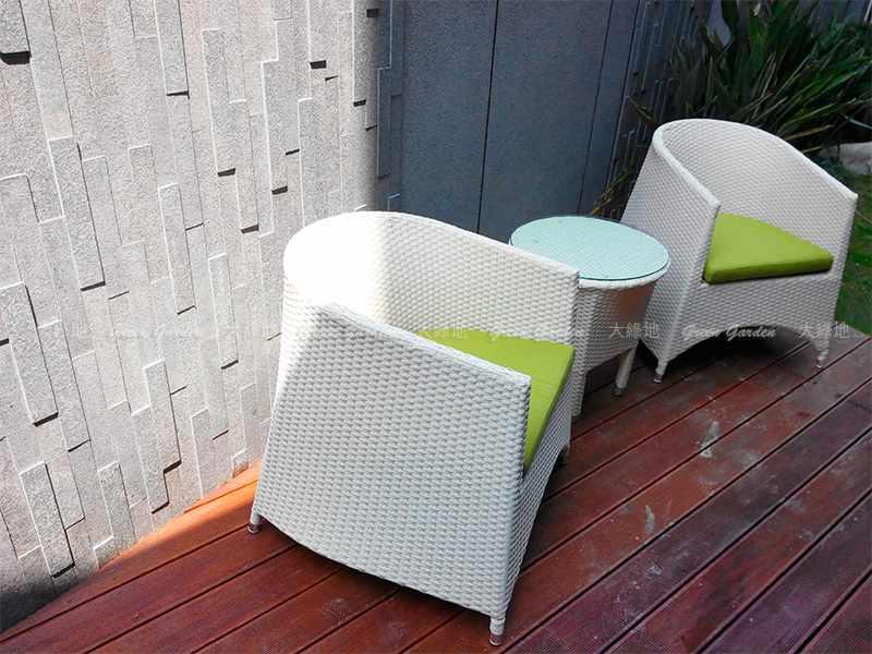 藤編桌椅1
