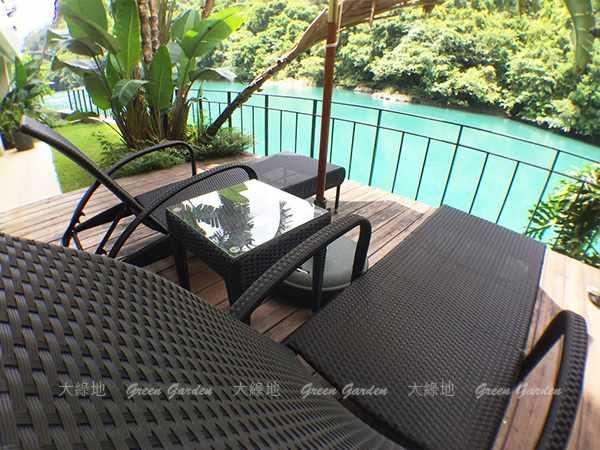 膠藤躺椅組4