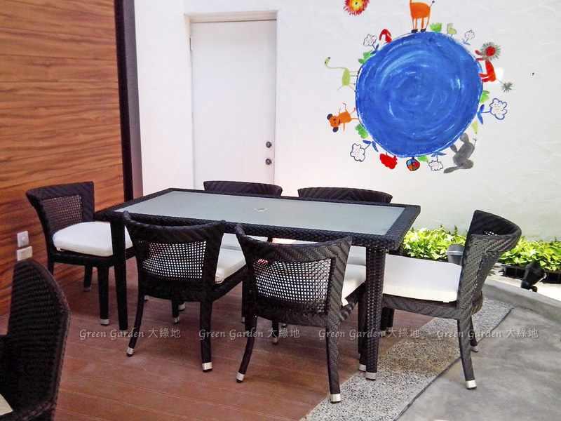 藤編餐桌椅1