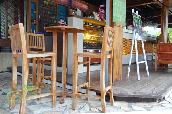 柚木高腳桌椅