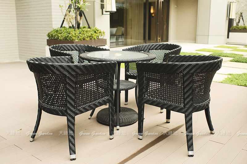 膠藤餐桌椅組2