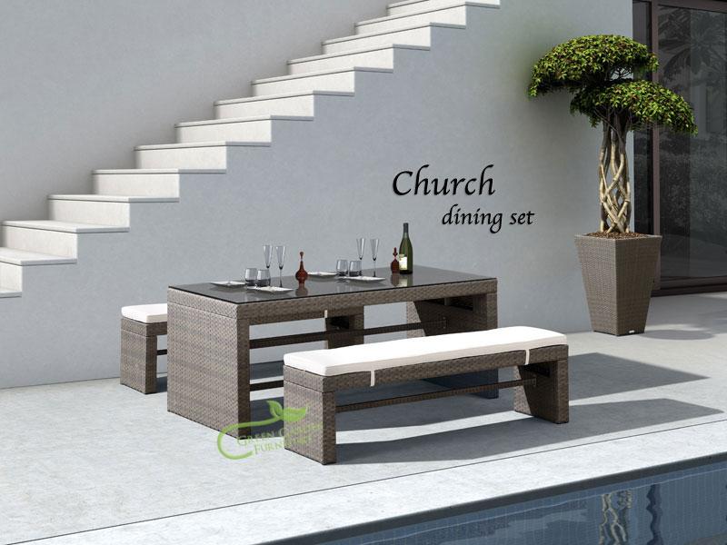 藤編餐桌椅01